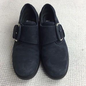 ECCO Blue Monk Strap Suede Shoes 37
